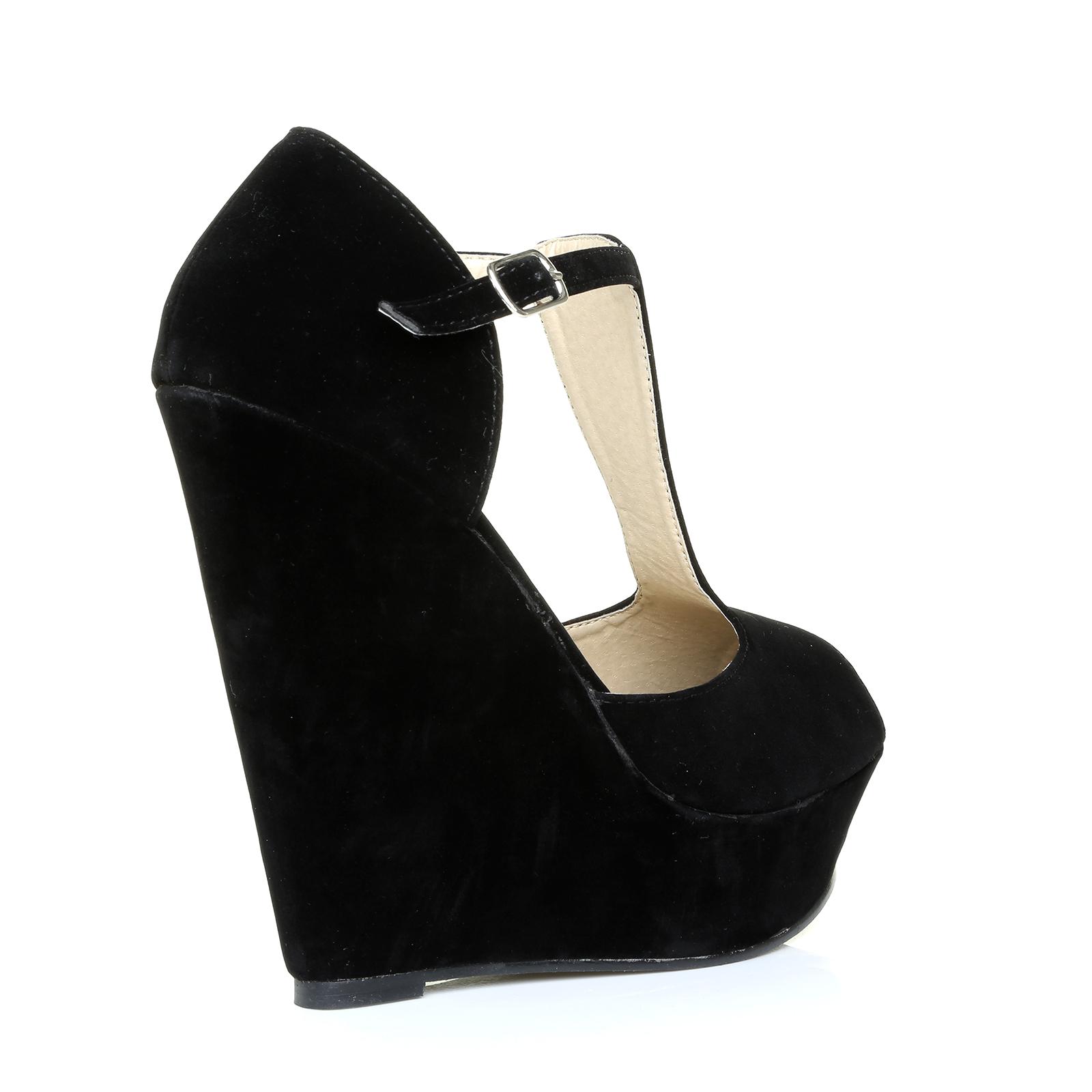 new platform womens peep toe summer t bar wedge