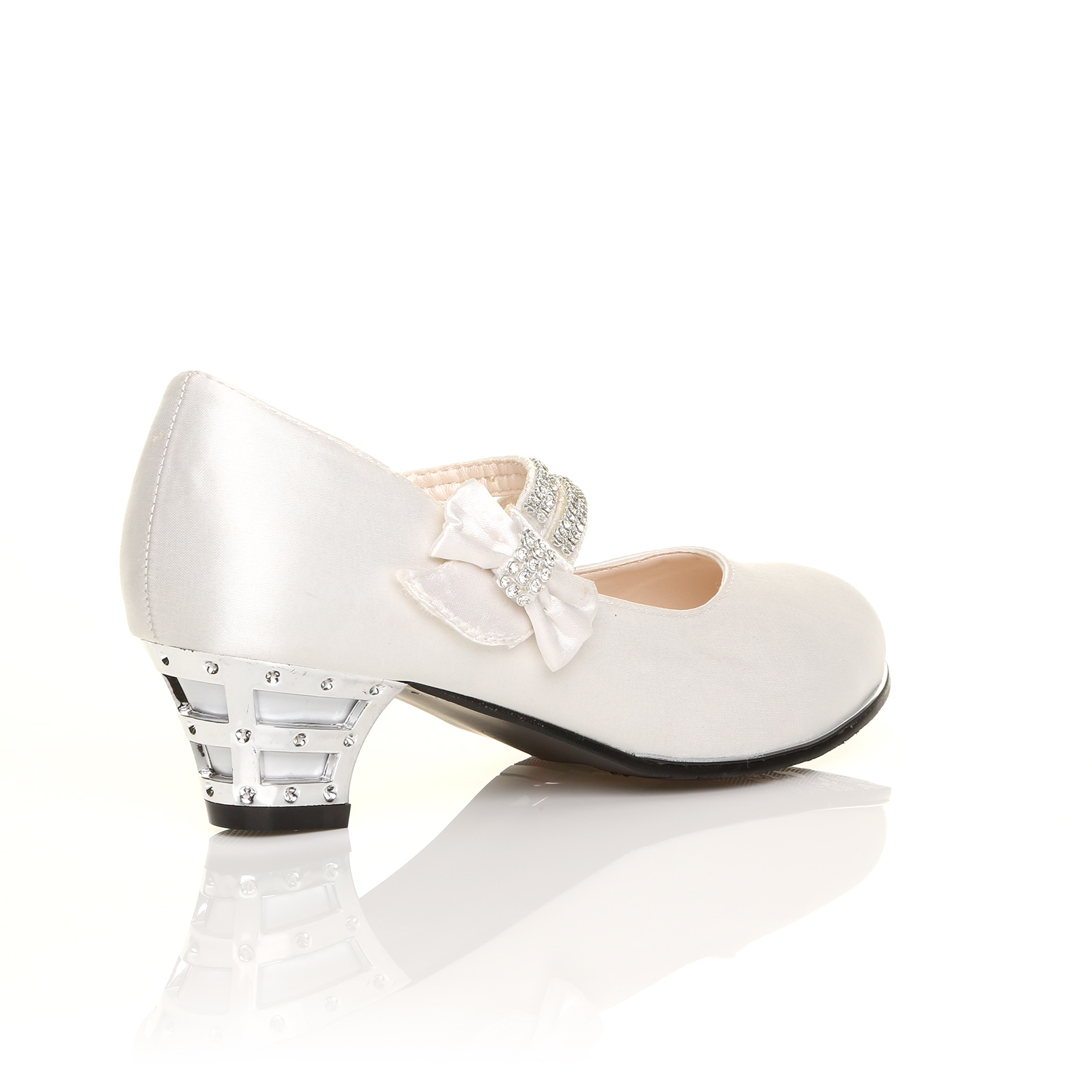 GIRLS-KIDS-CHILDRENS-LOW-HEEL-PARTY-MARY-JANE-WEDDING-STYLE-SANDALS-SHOES-SIZE