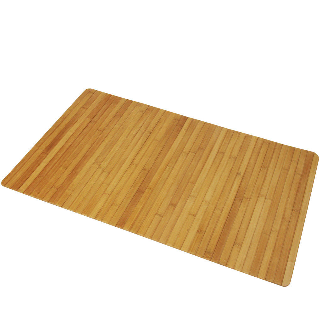 Bamboo Natural Utility Bath Shower Mat 50cm X 80cm For Use