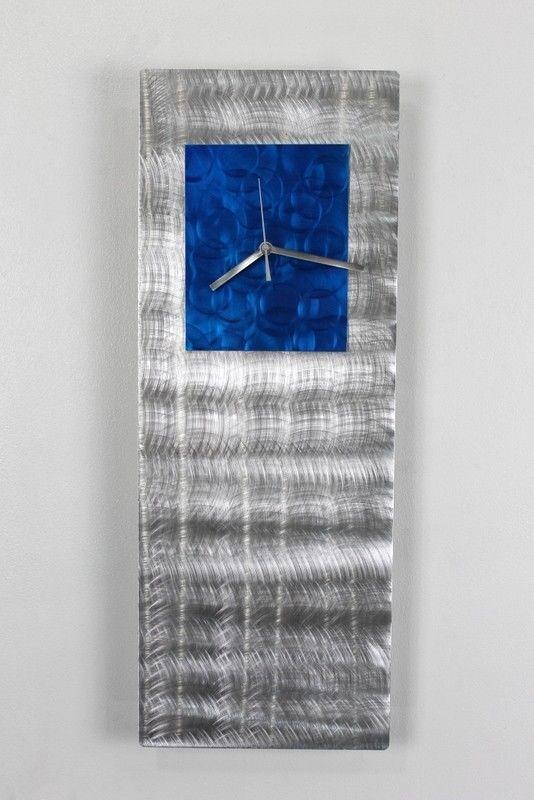 Statements2000 Blue Jazz Metal Abstract Wall Clock by Artist Jon Allen