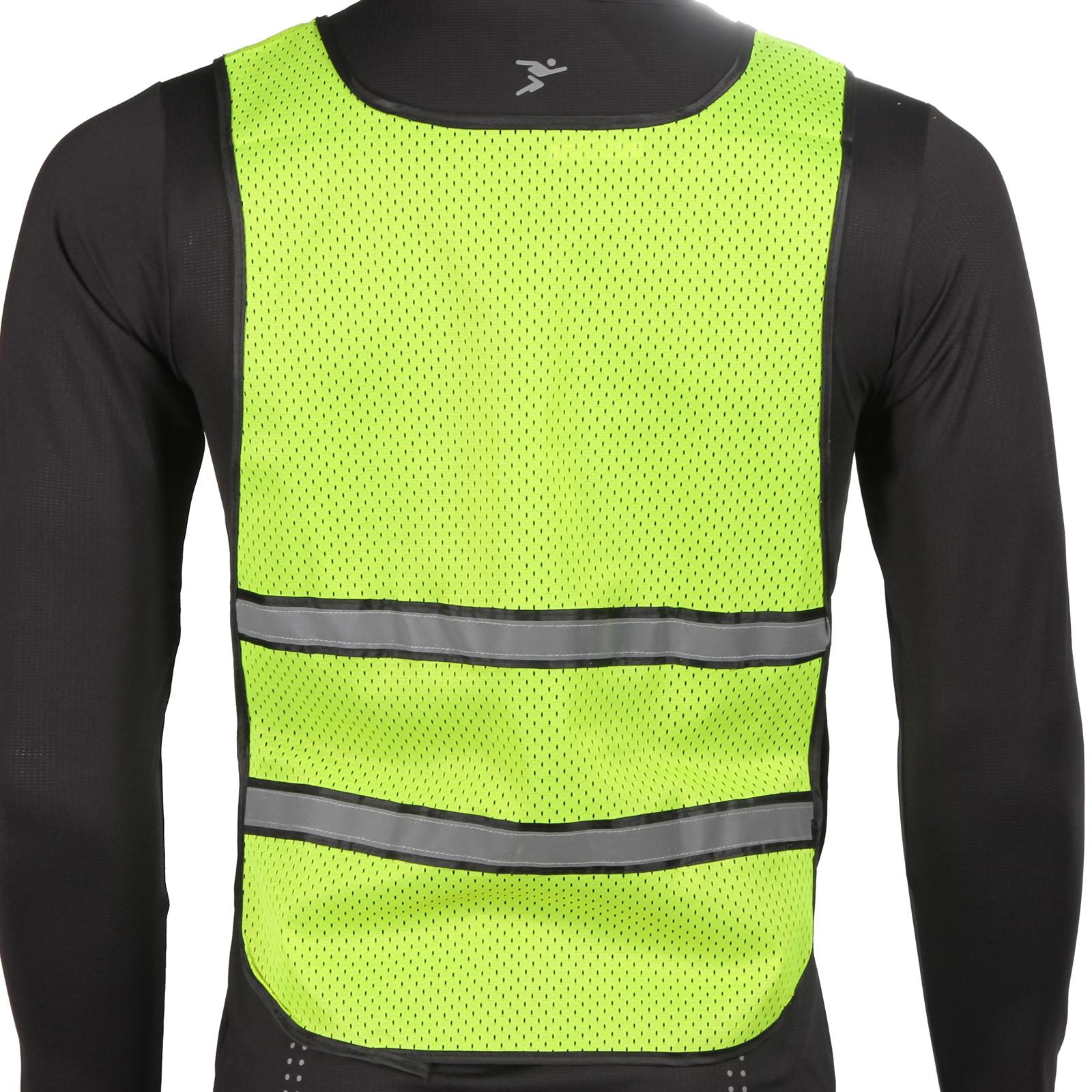 Precision running reflective vest bib high viz pink or for Hi viz running shirt