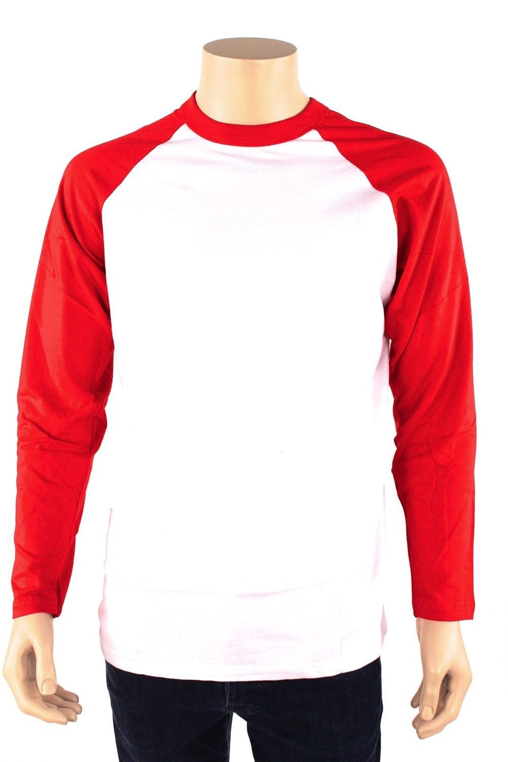Long sleeve baseball t shirt jersey 100 cotton raglan tee for Mens 100 cotton long sleeve t shirts
