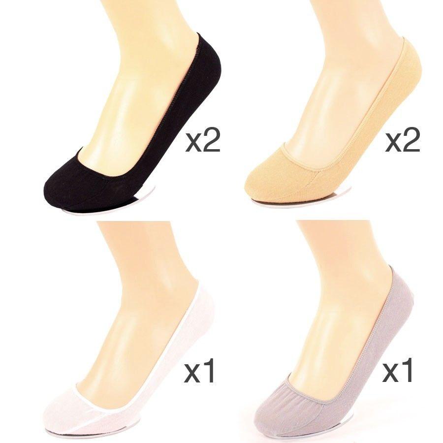 6 Pairs Womens Liner Socks No Show Peds Boat Ballet Plain Footies Cotton Low Cut | EBay