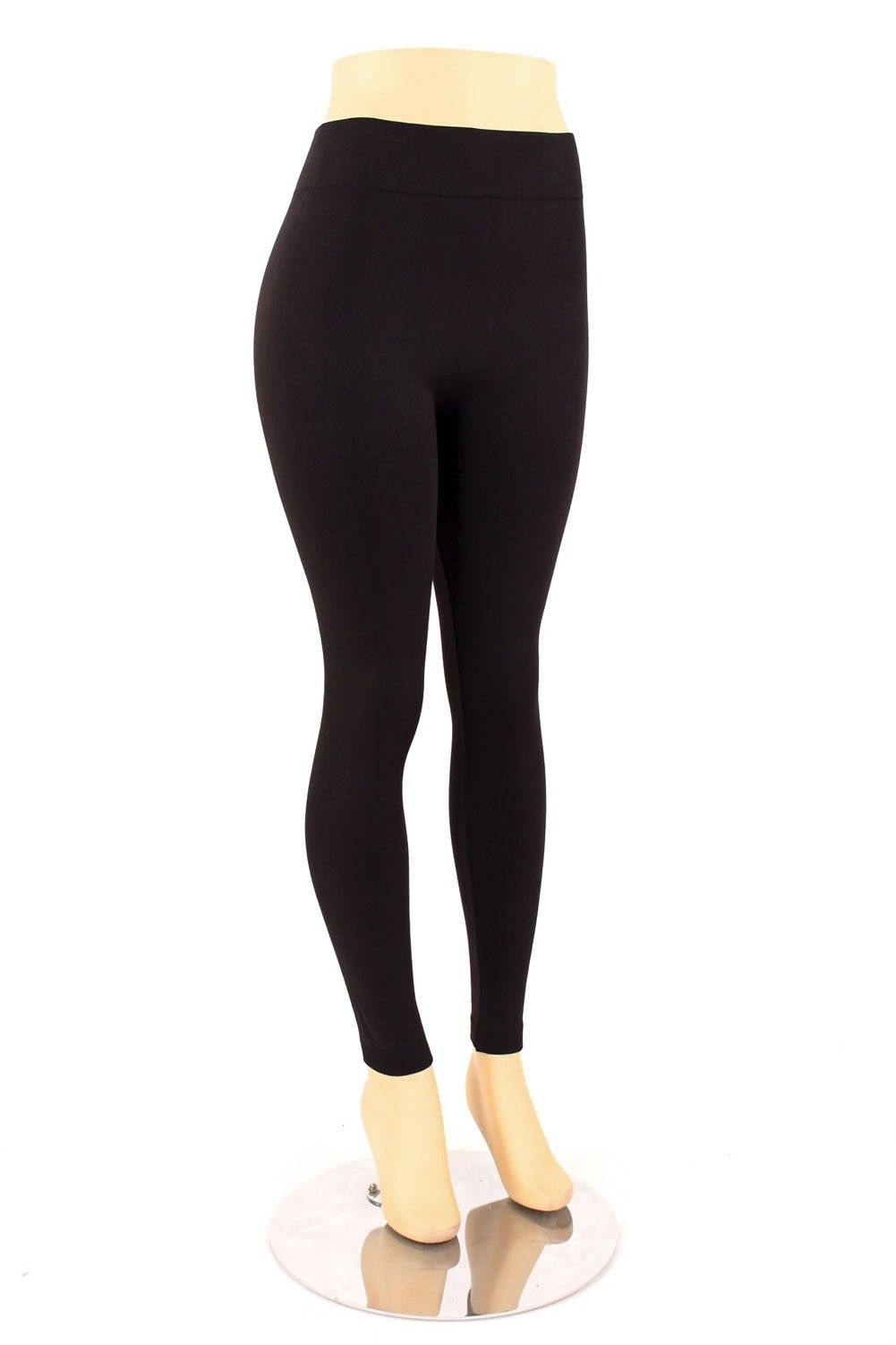 Womens Plus Size Fleece Lined Leggings Warm Thick Winter Stretch ...
