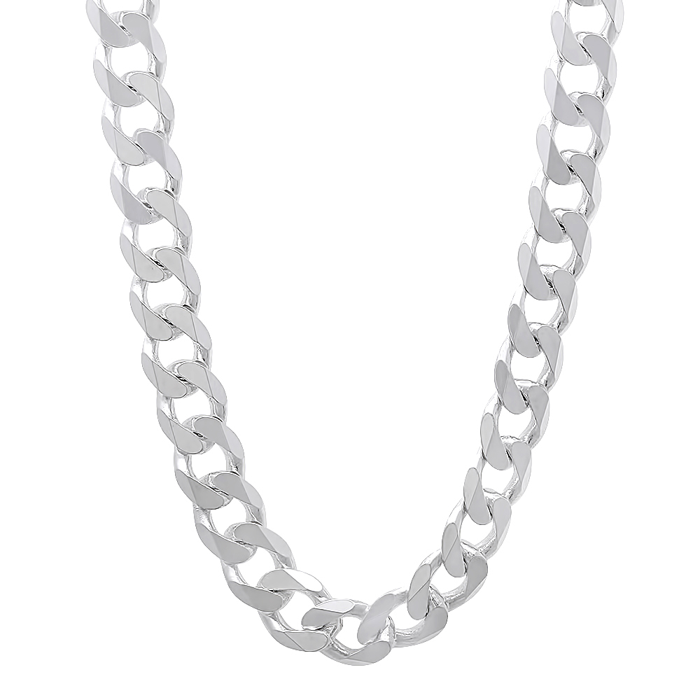 7 mm men 39 s real 925 sterling silver cuban link chain hip. Black Bedroom Furniture Sets. Home Design Ideas