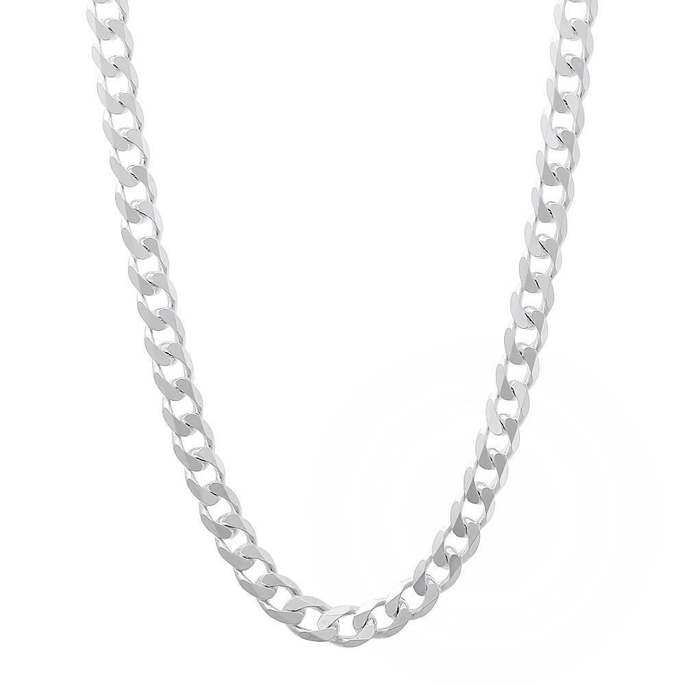 solid 925 sterling silver beveled cuban curb link. Black Bedroom Furniture Sets. Home Design Ideas