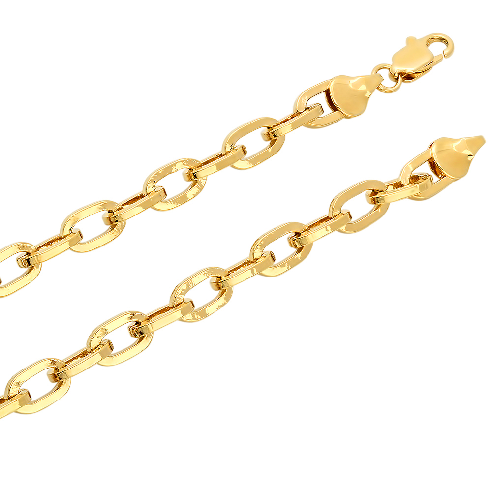 6mm 14k Gold Plated Round Cable Link Chain