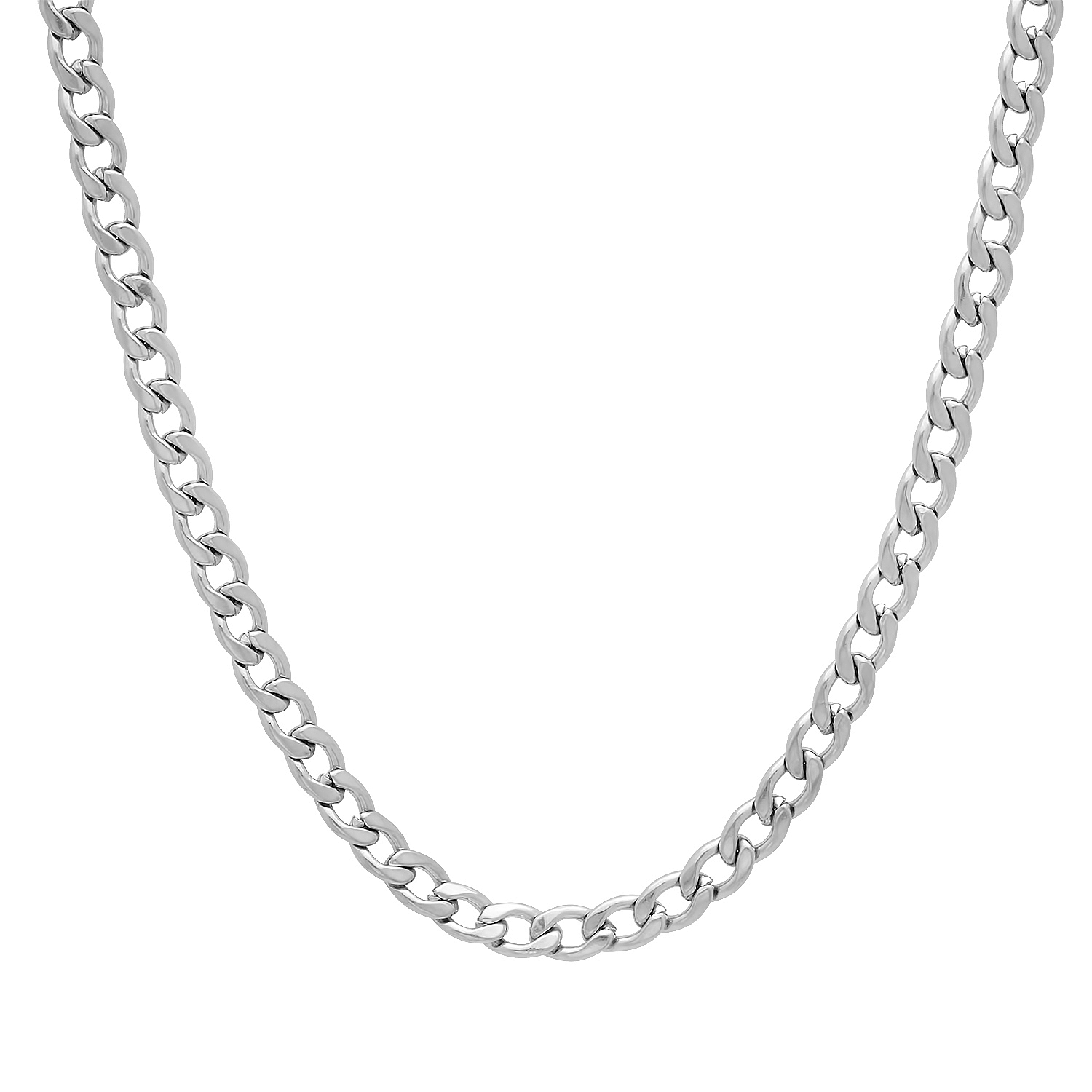 Thug Fashion Men's 4 mm Thin Solid 316L Surgical Stainless Steel Cuban Link Curb Neck Chain at Sears.com