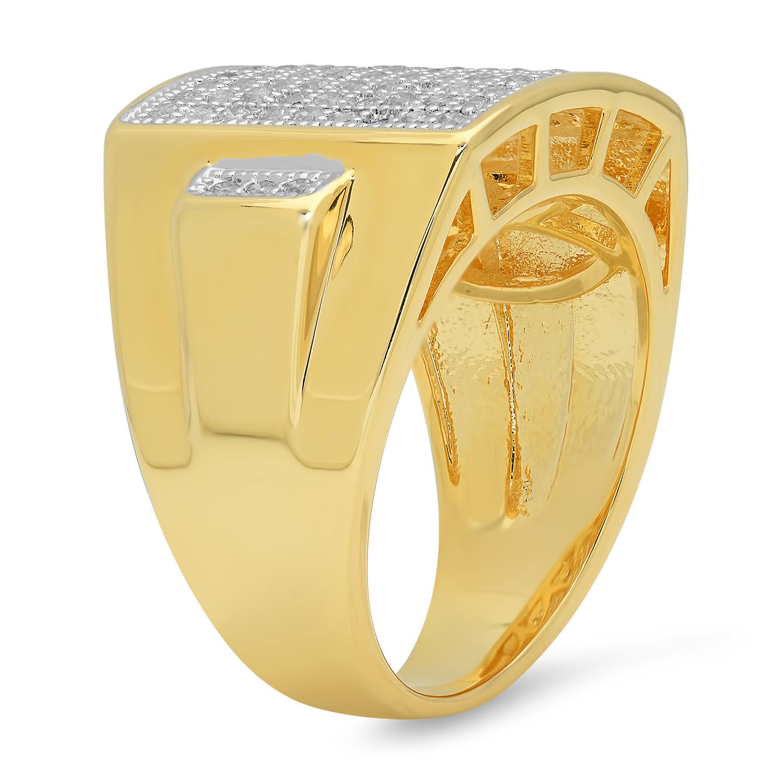 The Bling Factory Large Hip Hop 27.3mm x 21mm Two-Tone 14k Gold CZ Bling Medusa Pendant + Microfiber Jewelry Polishing Cloth K4z4QmZFZ3