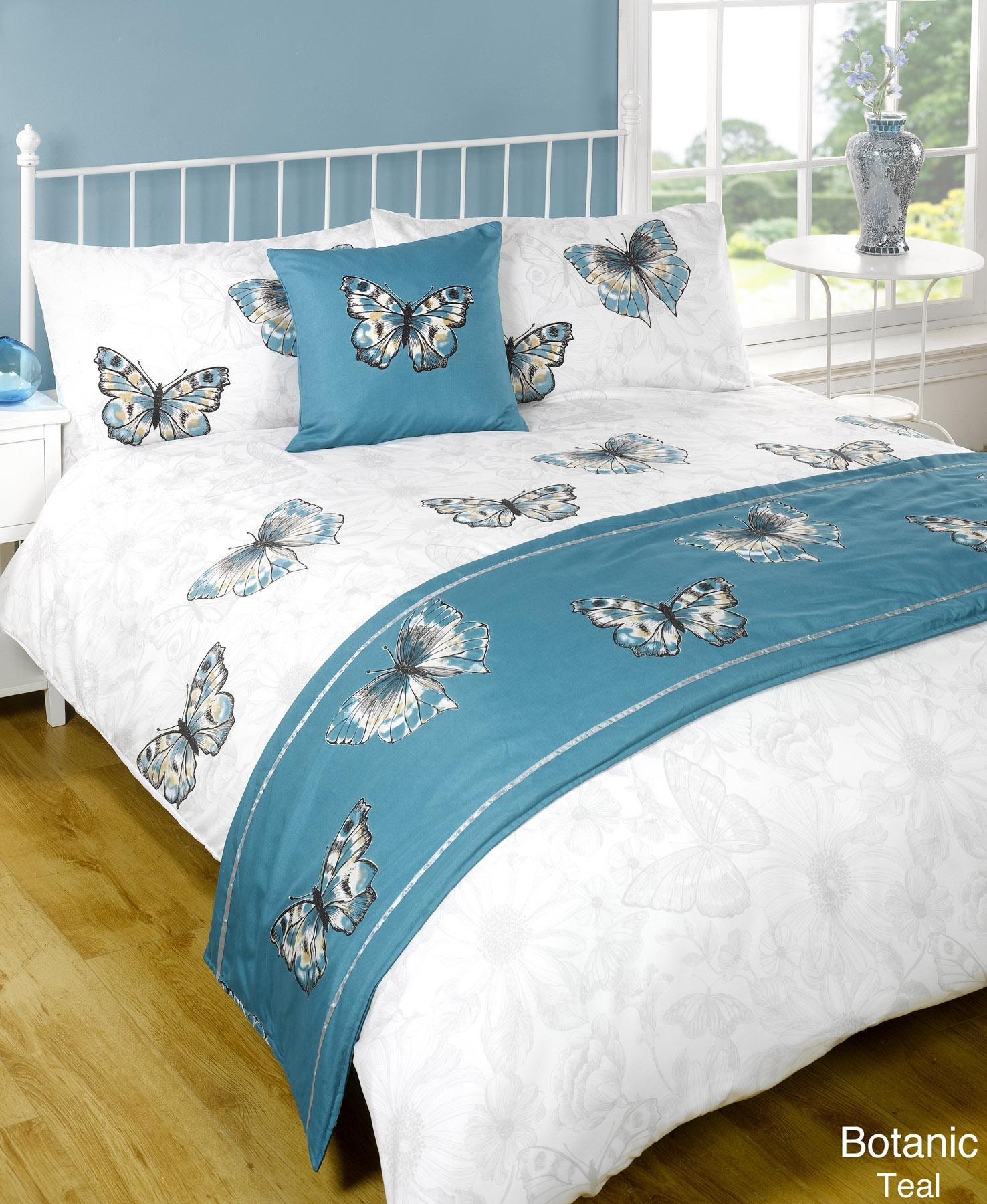 duvet quilt bedding bed in a bag teal single double king. Black Bedroom Furniture Sets. Home Design Ideas