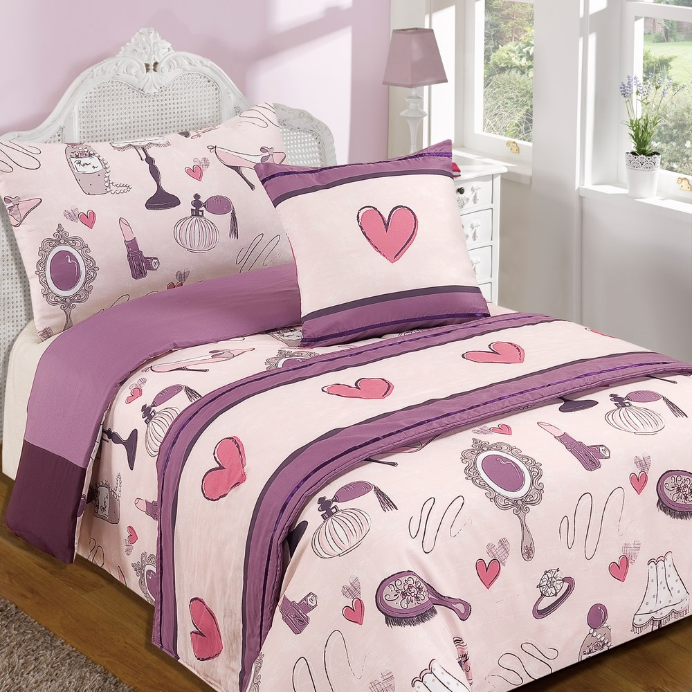 Childrens bed in a bag quilt duvet cover bedding set in for Childrens double beds