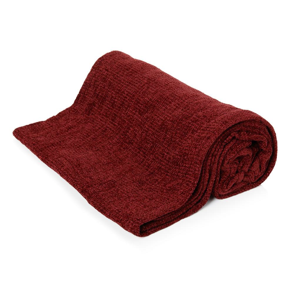 luxury plain super soft comfy chenille blanket woven throw over 125 x 150cm new - Chenille Blanket