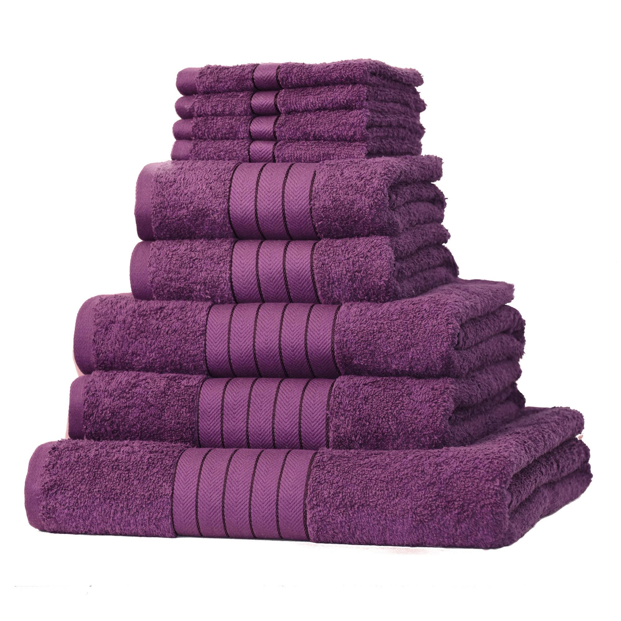 Luxury 100 egyptian cotton 9 piece bathroom towel bale for Bathroom towels