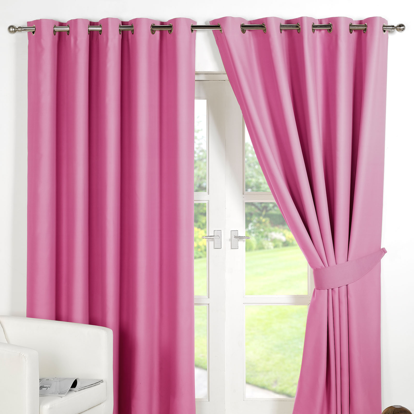 ring top fully lined pair eyelet ready made curtains. Black Bedroom Furniture Sets. Home Design Ideas
