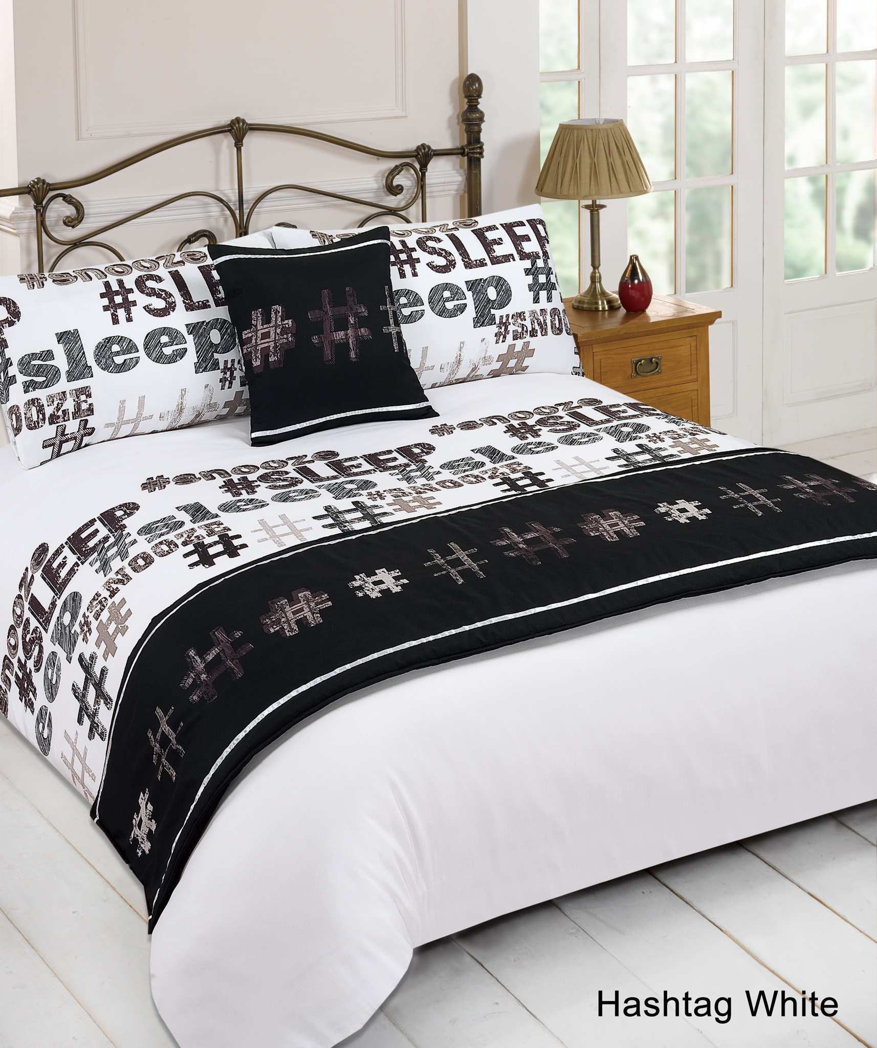 Duvet cover with pillow case quilt bedding set bed in a for Blankets king size bed