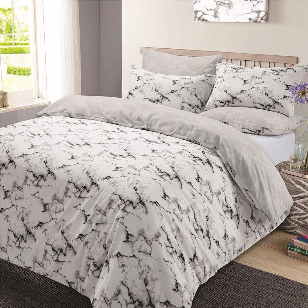 polycotton duvet cover with pillow case bedding set single double  - polycottonduvetcoverwithpillowcasebeddingset
