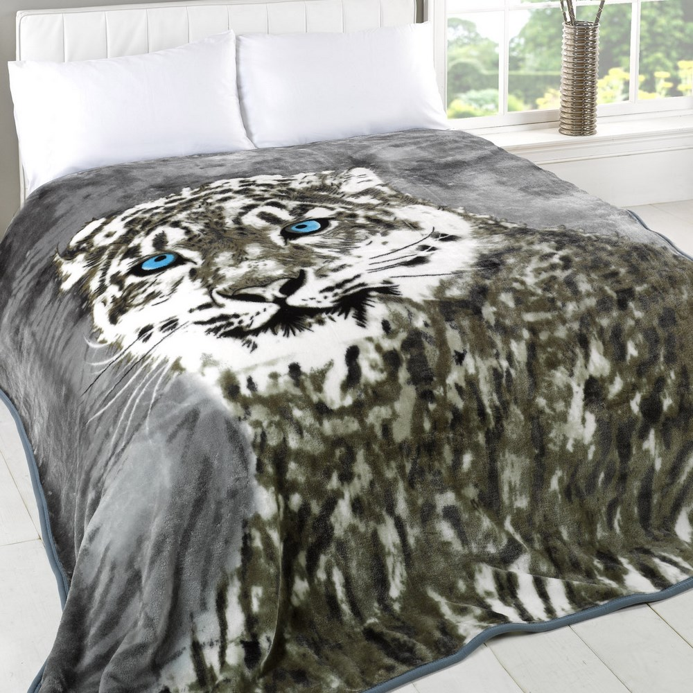 Dreamscene Animal Print Faux Fur Large Mink Throw