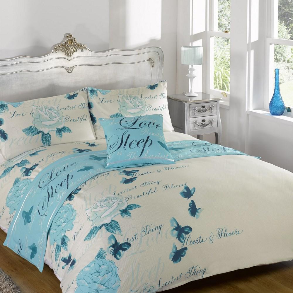 Odette Butterfly Duvet Quilt Bedding Bed In A Bag Cushion Pillow Cover Runner