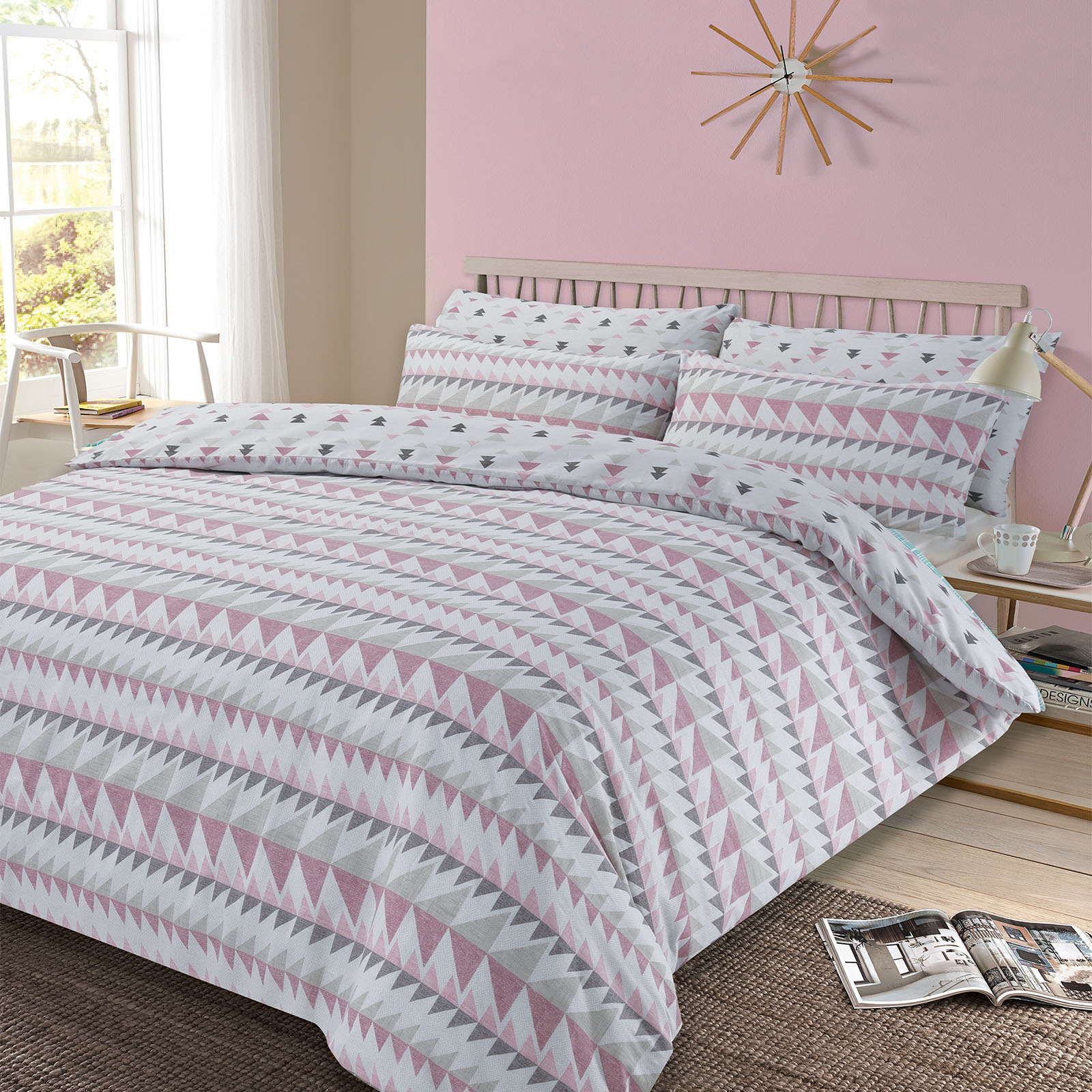 dreamscene premium polycotton duvet cover with pillowcase bedding  - dreamscenepremiumpolycottonduvetcoverwithpillowcasebedding