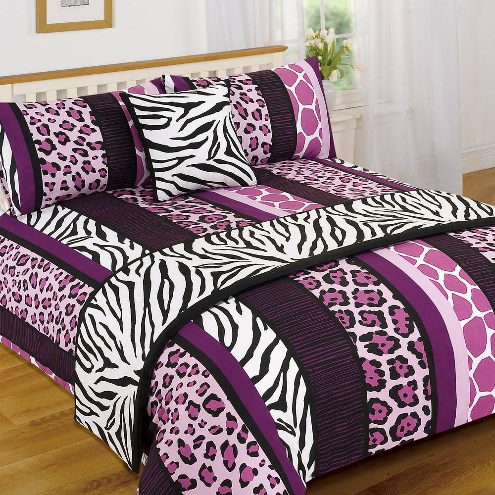 leopard animal print serengeti bed in a bag duvet quilt cover runner bedding set ebay. Black Bedroom Furniture Sets. Home Design Ideas