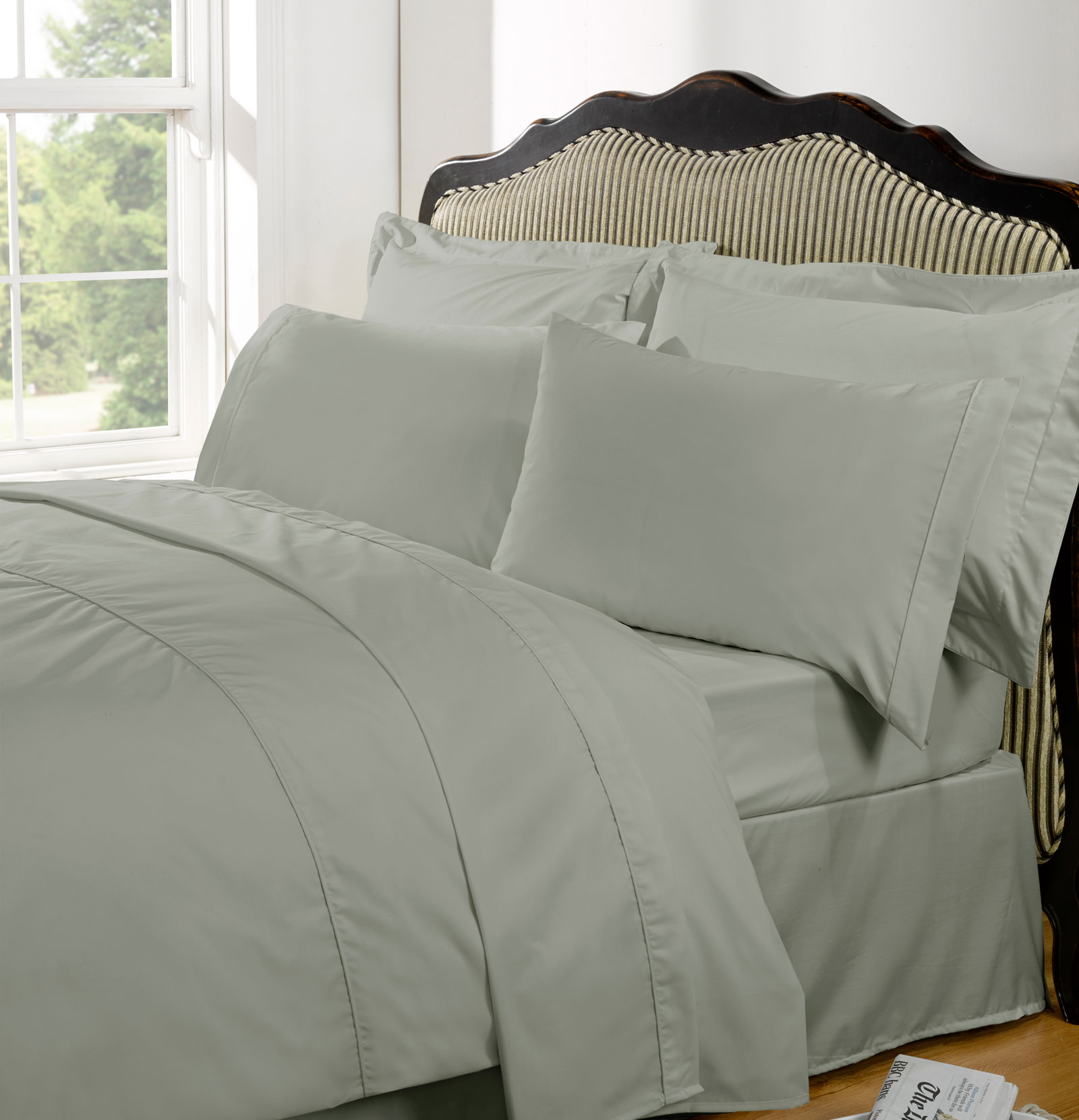 Highams 100 Egyptian Cotton Deep Fitted Sheet Bedding 230