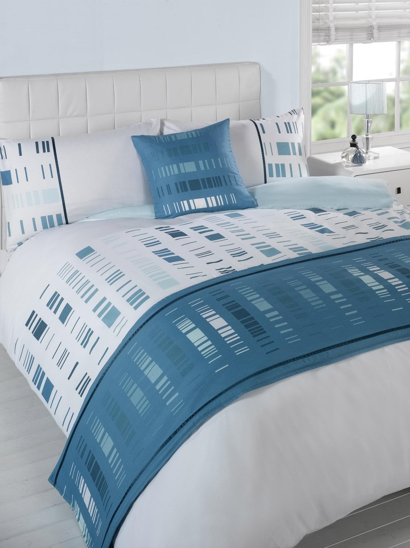 stepp bettdecke bettw sche bed in a bag t rkis einzelbett doppelbett kingsize ebay. Black Bedroom Furniture Sets. Home Design Ideas