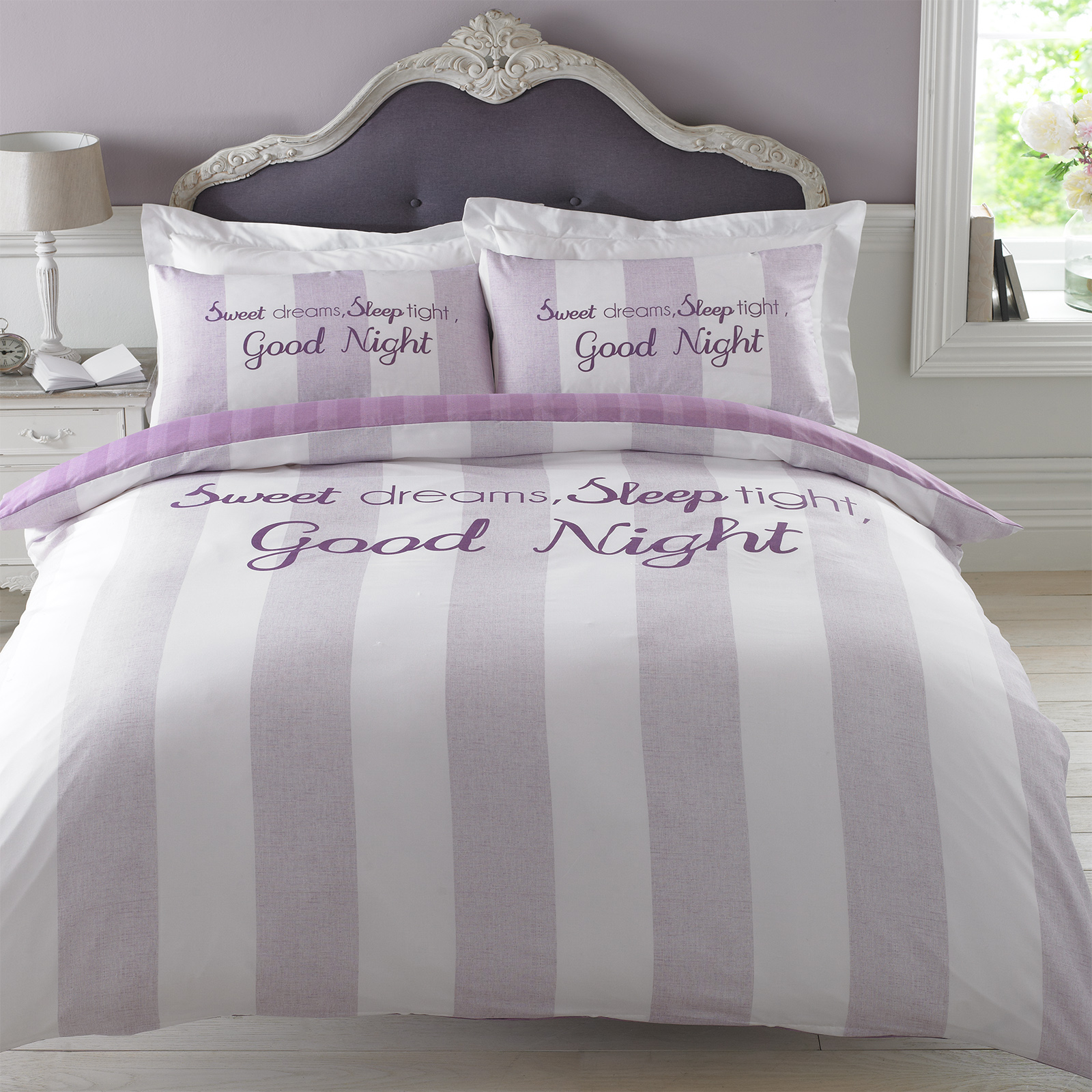 Lilac Bedroom New Duvet Cover With Pillowcase Bedding Set Sweet Dreams Sleep