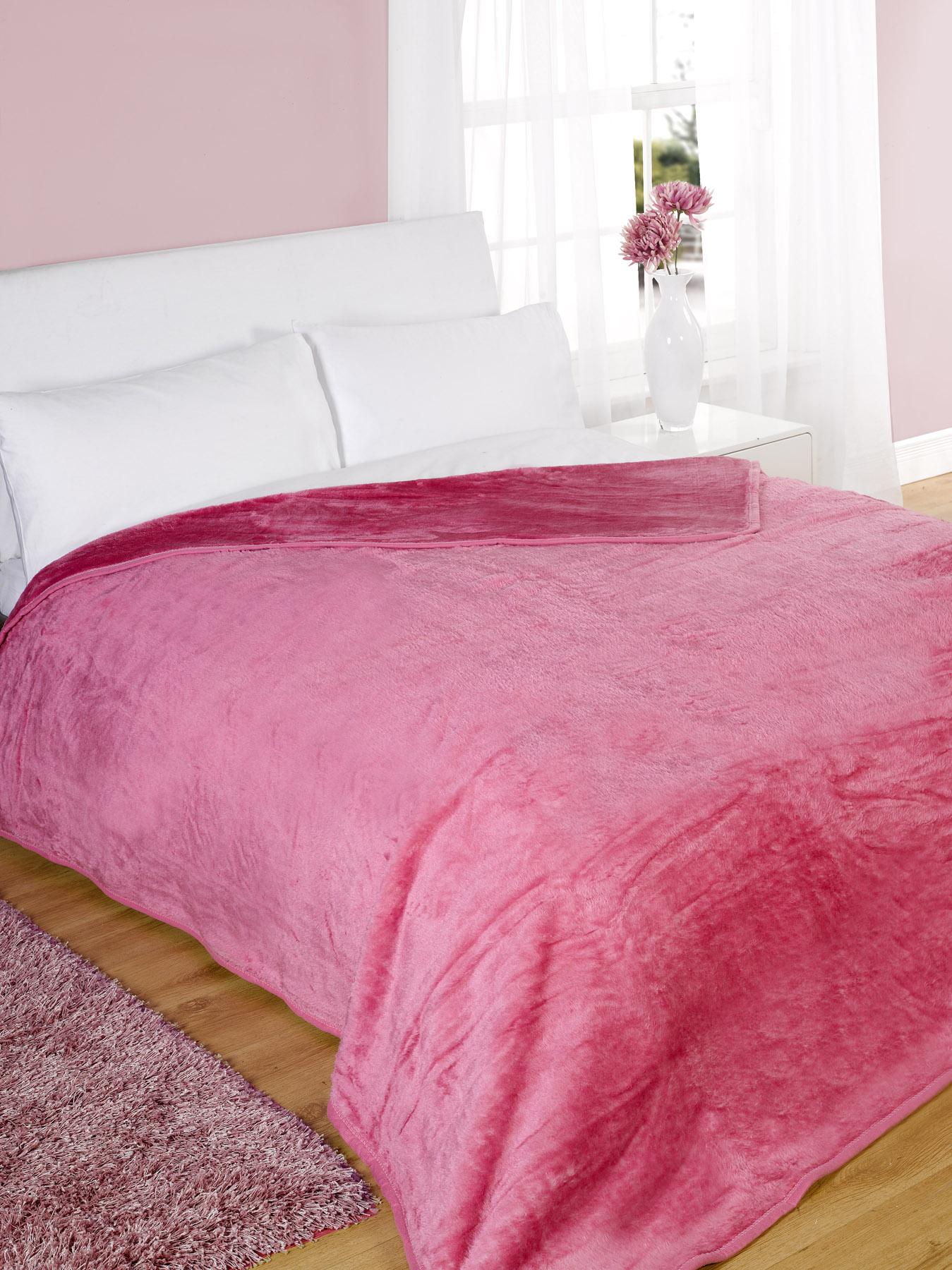 mink faux fur throw fleece blanket all colours and sizes ebay. Black Bedroom Furniture Sets. Home Design Ideas