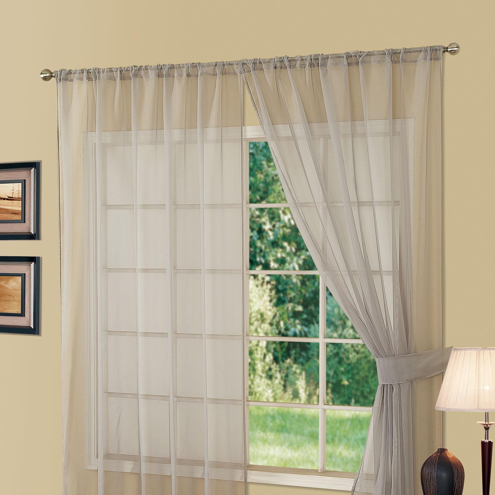 llano de dreamscene ranura gasa superior red ventana cortina panel blanco