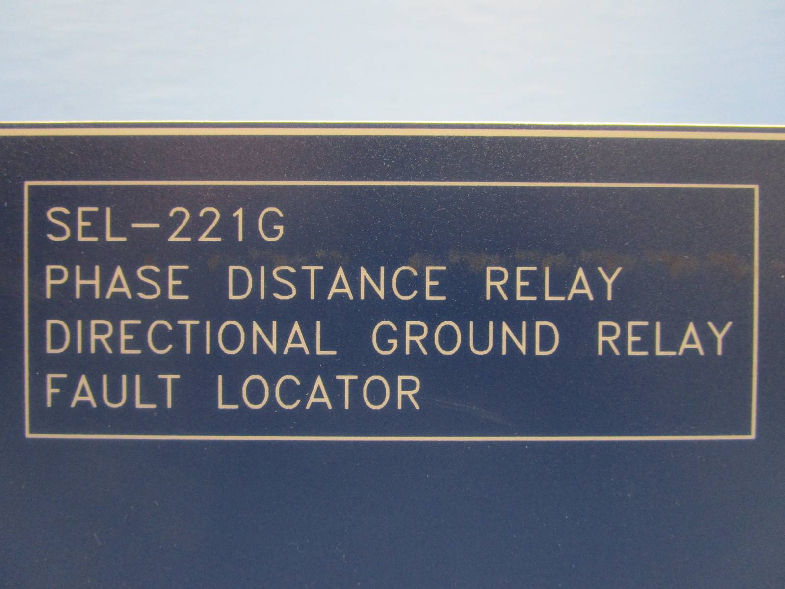 Ground Fault Locator : Schweitzer engineering sel g phase distance ground