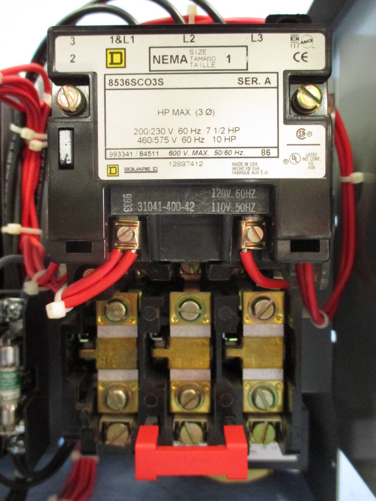 Square D Combination Starter Wiring Diagram 43 Nema Size 2 Tk0000 Model 6 1 15 A Fap Breaker Mcc Bucket Amp