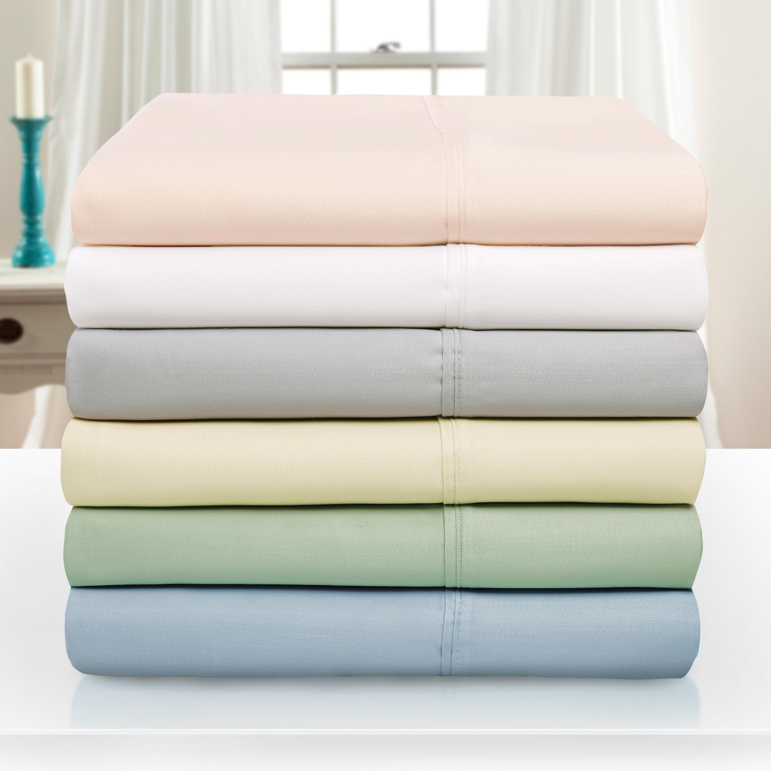 1000 thread count tencel polyester ultra soft bed sheet set 6 colors. Black Bedroom Furniture Sets. Home Design Ideas
