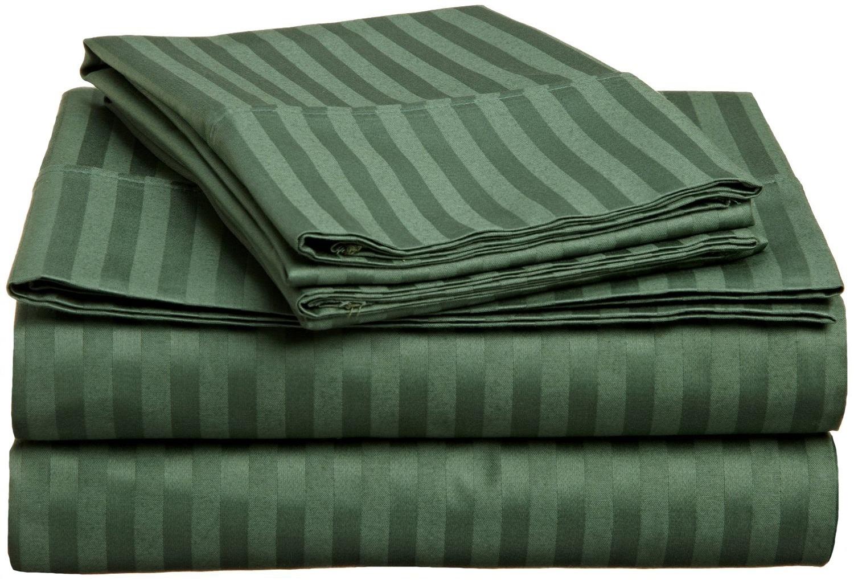 striped soft sheet set 300 thread count premium long staple cotton 17 colors. Black Bedroom Furniture Sets. Home Design Ideas