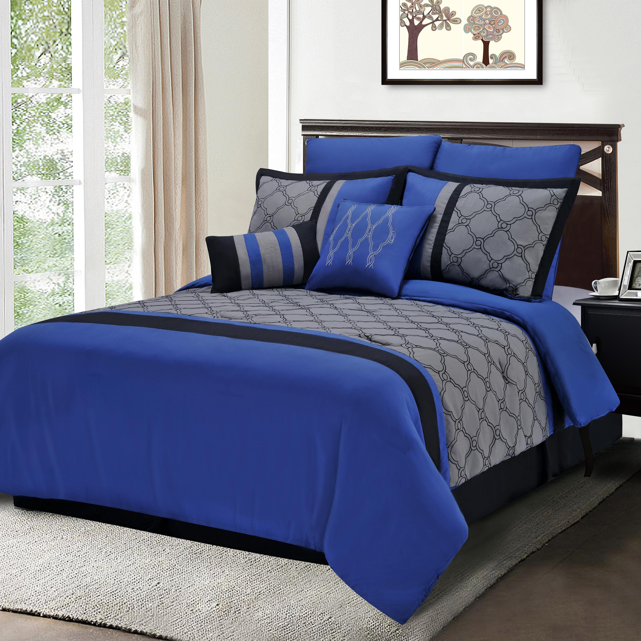 Decorative Bed Pillow Sets : 7-12-Piece Bedding Comforter Set, Shams, Decorative Pillows, 13 Designs eBay