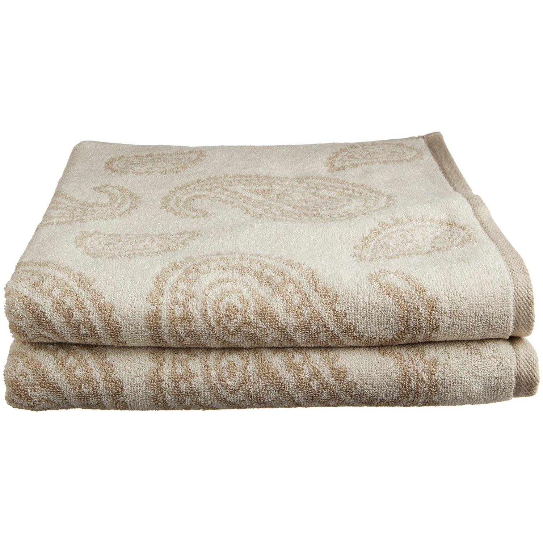 Superior Paisley Bath Towel Set, 2-Piece, Soft Egyptian Cotton, Bathing SPA GYM, 4 Colors