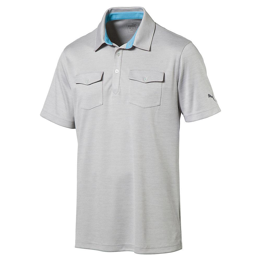 Puma tailored double pocket polo mens golf shirt 572355 for Two pocket polo shirt