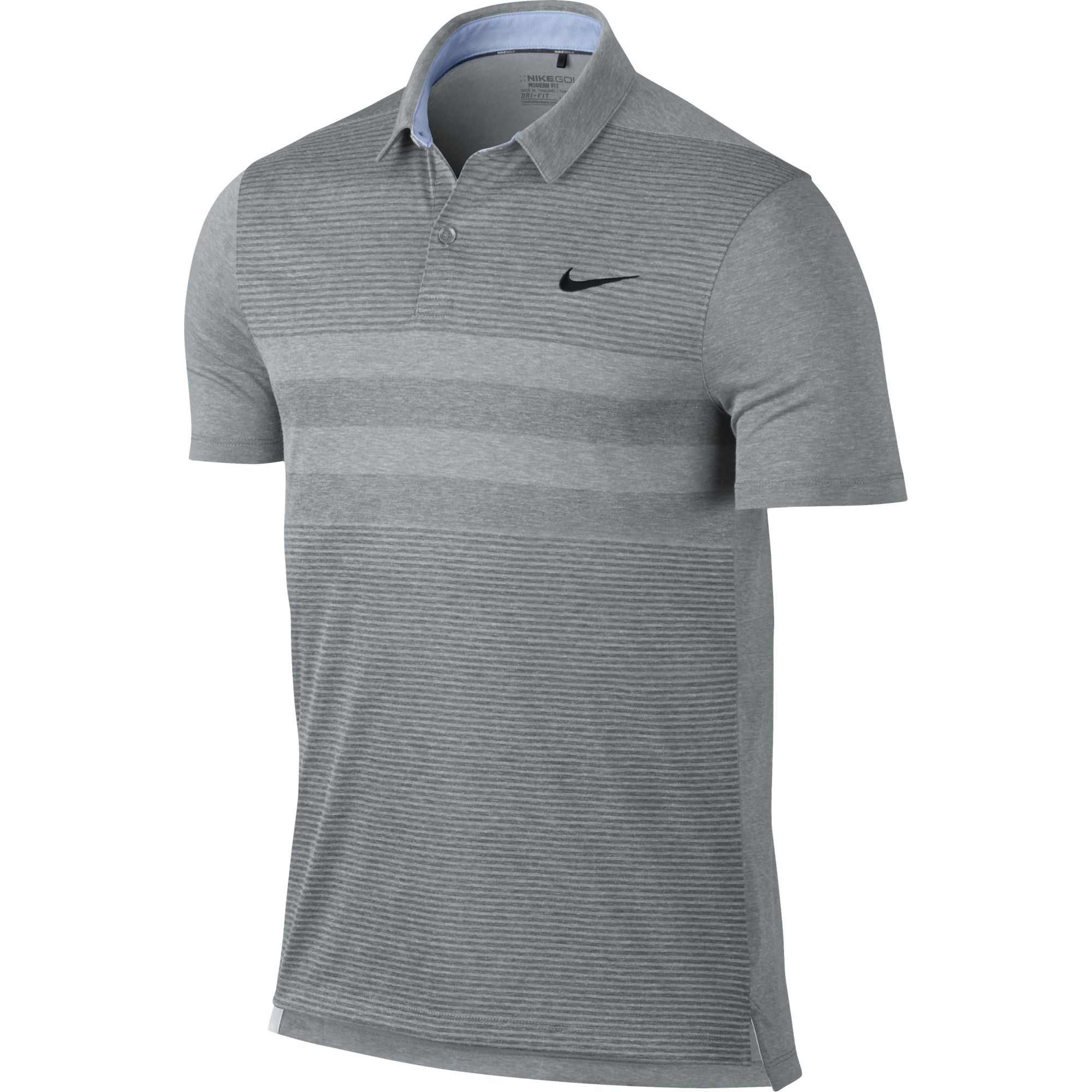 2016 nike modern fit transition dry stripe polo men 39 s dri for Modern fit golf shirt