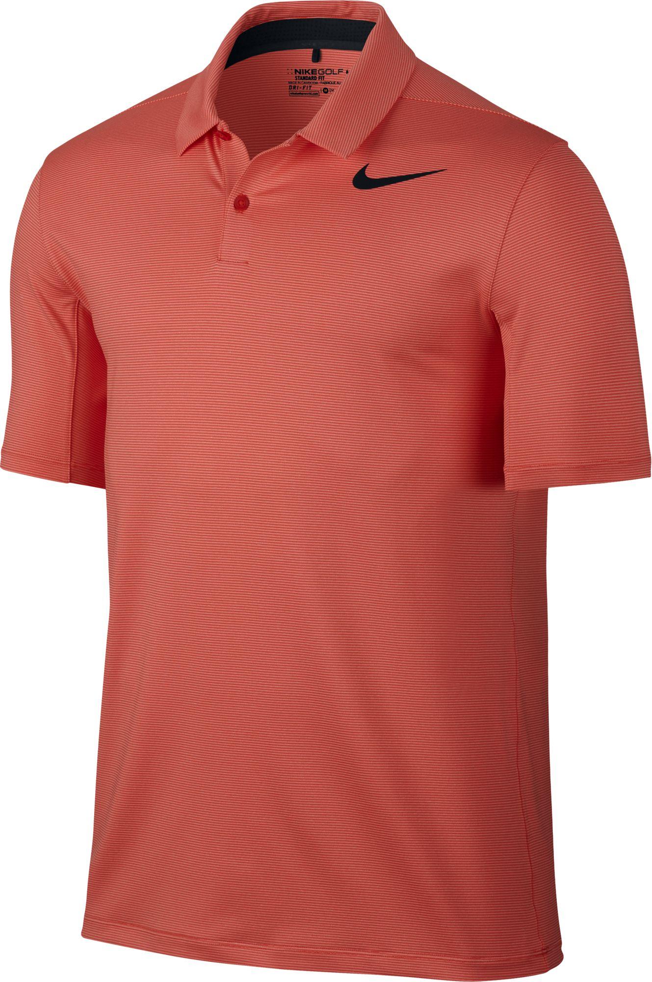 2017 nike mobility control stripe polo golf shirt mens for Nike custom polo shirts