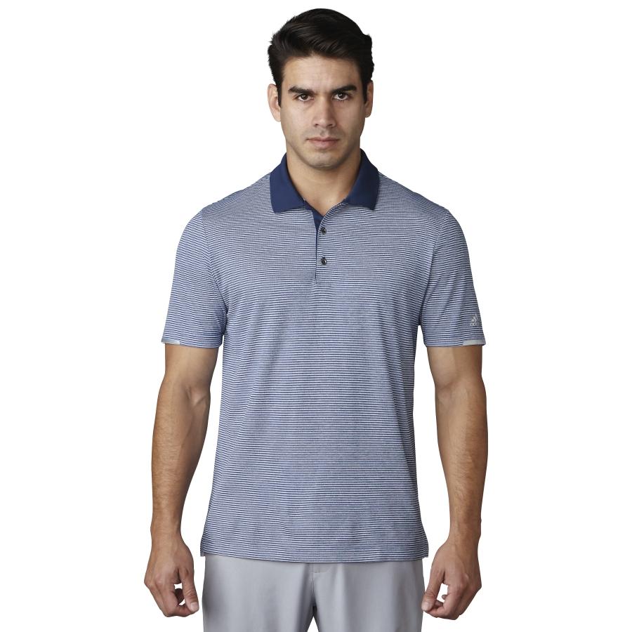 Adidas Climachill Heather Microstripe Polo Mens Golf Shirt