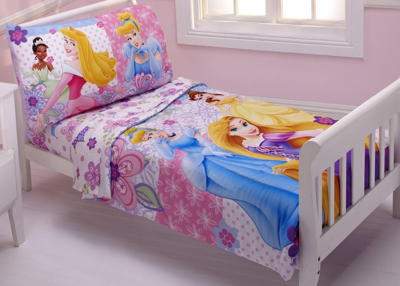 Baby Boom Disney Princesses Wishes Dreams 4 Piece Toddler Bedding Set
