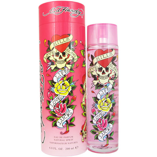 Ed Hardy Perfume For Women By Christian Audigier: Ed Hardy By Christian Audigier 6 8 Oz Eau De Parfum Spray New In Box For Women