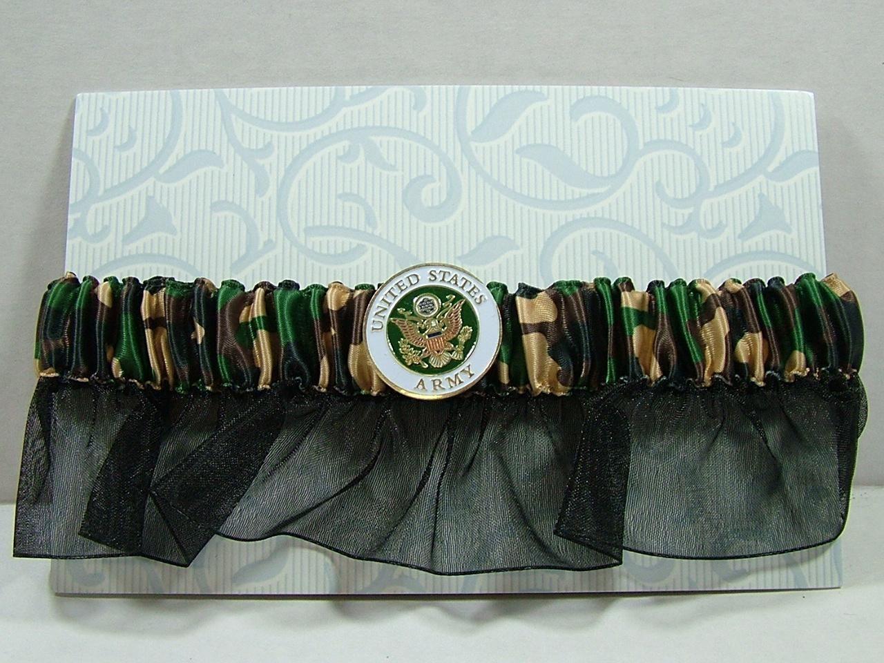 new camo camouflage garter belt brown green army