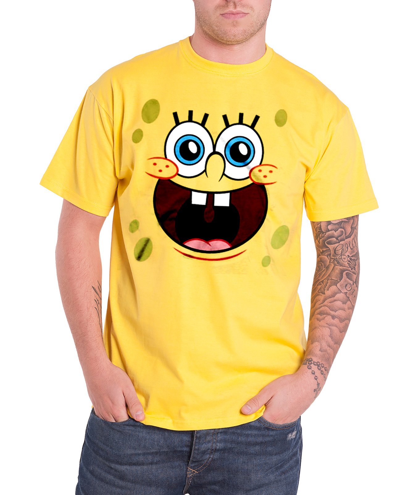 Each Spongebob T-shirt and hoodie is available in adult and children's sizes. Moreover, the new 'Best Friends' Spongebob T-shirt collection is here! This quirky collection of screened T-shirts comes in a variety of sizes and cuts for ladies and men as well as kids.