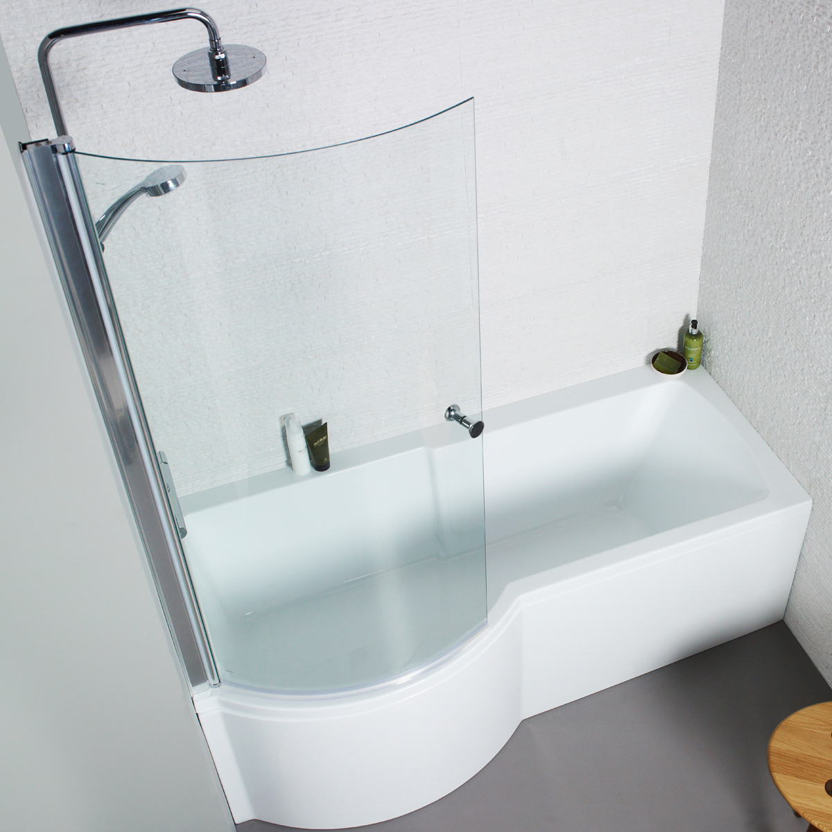 White Acrylic 1700mm Front / 700mm End Bath Panels For P ...