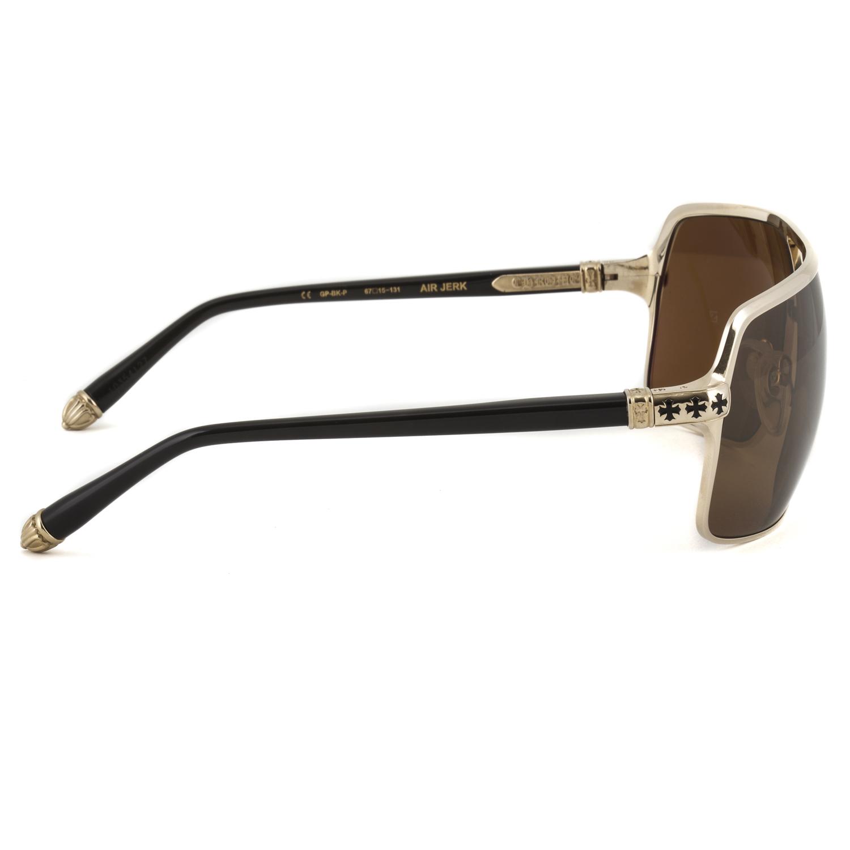 Chrome Hearts Air Jerk Sunglasses Gold Plated Black Brown ...