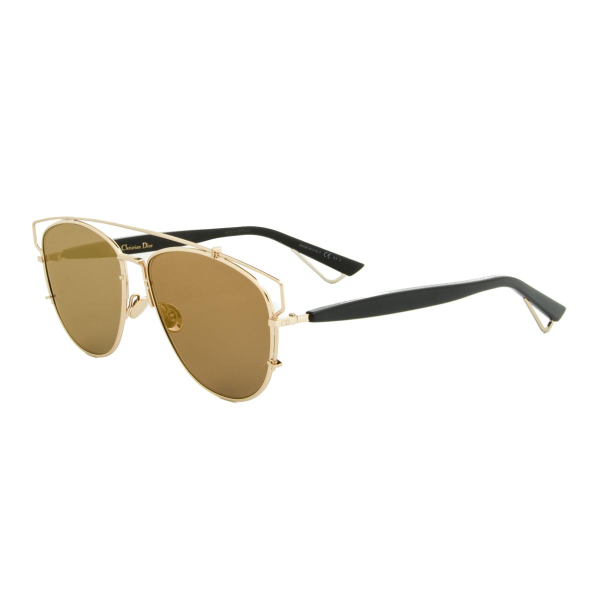 Gold Frame Black Lenses Sunglasses : Dior Sunglasses Dior Technologic RHL83 Gold Black Frame ...
