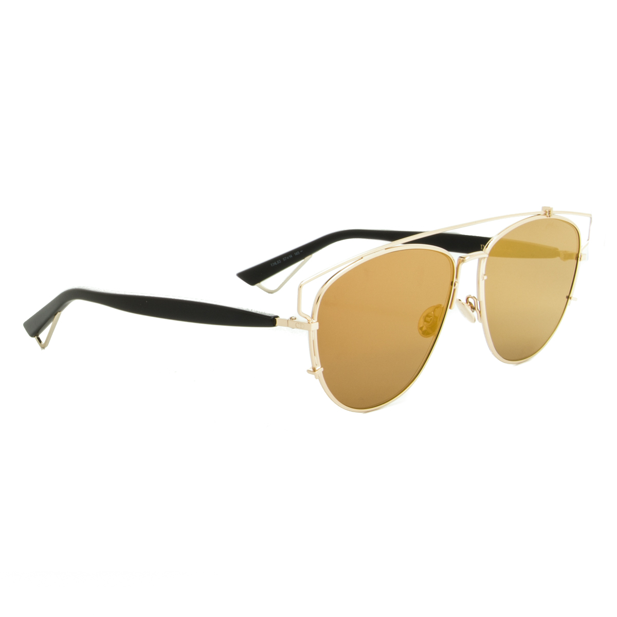Dior Sunglasses Dior Technologic RHL83 Gold Black Frame ...