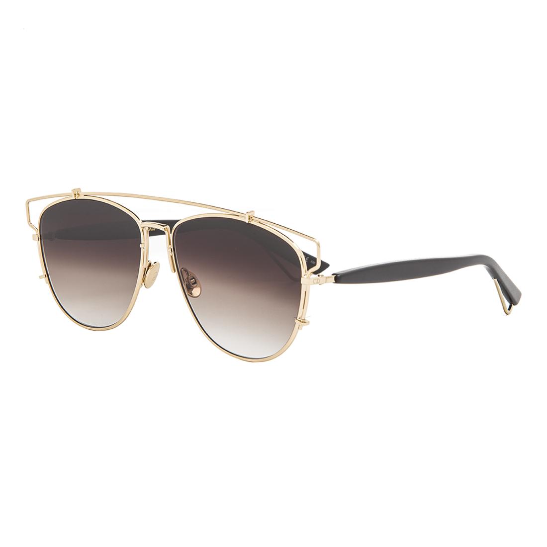 Dior Black Frame Glasses : Dior Technologic Aviator Sunglasses RHL86 Gold Black Frame ...