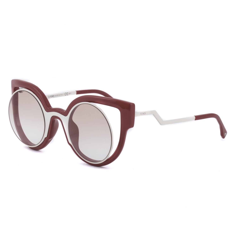 womens red sunglasses  Fendi FF 0137/S Paradeyes Womens Sunglasses NT41M Red Cream Frame ...