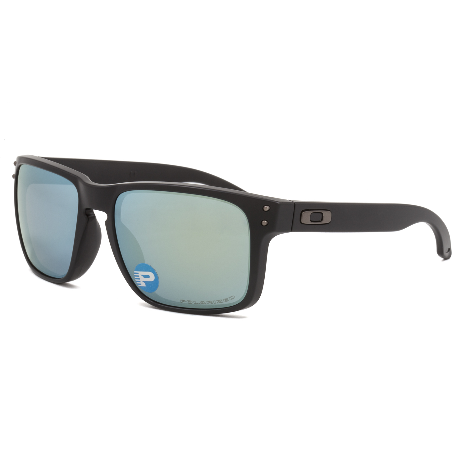 oakley matte black holbrook ci2f  Image is loading Oakley-Holbrook-Sunglasses-OO9102-50-Matte-Black-Emerald